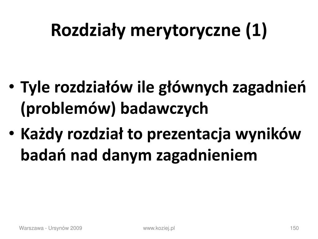 Rozdziały merytoryczne (1)