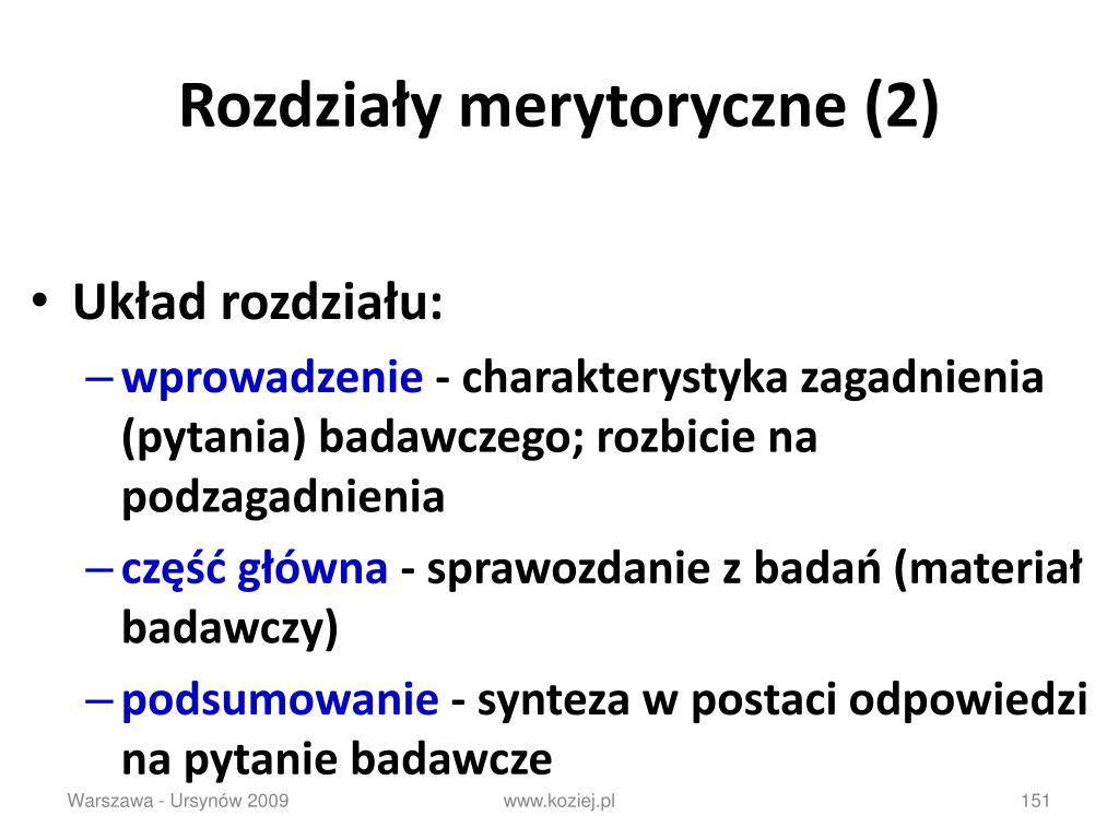 Rozdziały merytoryczne (2)