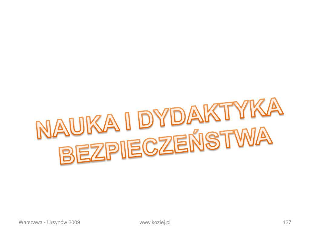 NAUKA I DYDAKTYKA