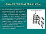 lesiones por compresi n axial