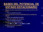 bases del potencial de estado estacionario