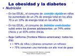 la obesidad y la diabetes