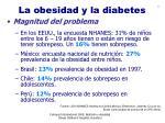 la obesidad y la diabetes12