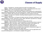 classes of supply