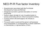 neo pi r five factor inventory