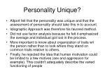 personality unique