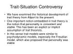 trait situation controversy