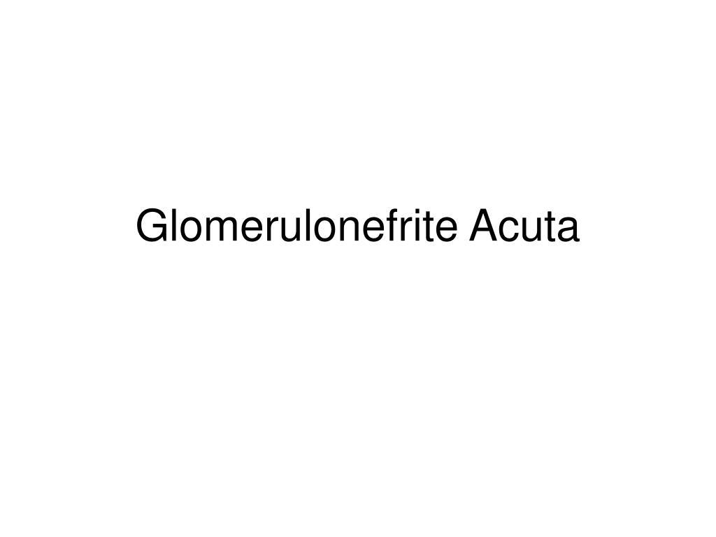 glomerulonefrite acuta l.