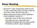 dasar routing7