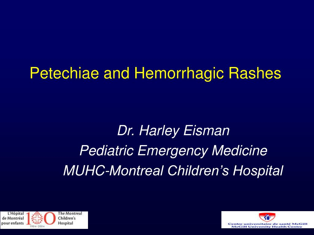 petechiae and hemorrhagic rashes l.