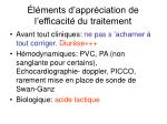 l ments d appr ciation de l efficacit du traitement