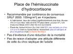 place de l h misuccinate d hydrocortisone