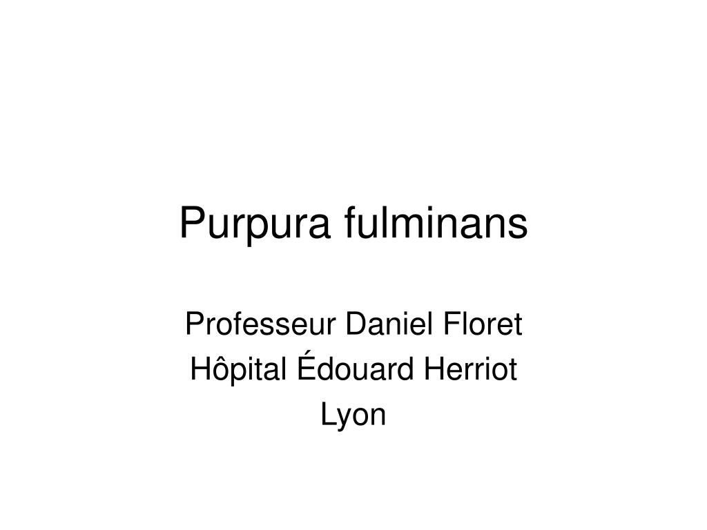 purpura fulminans l.