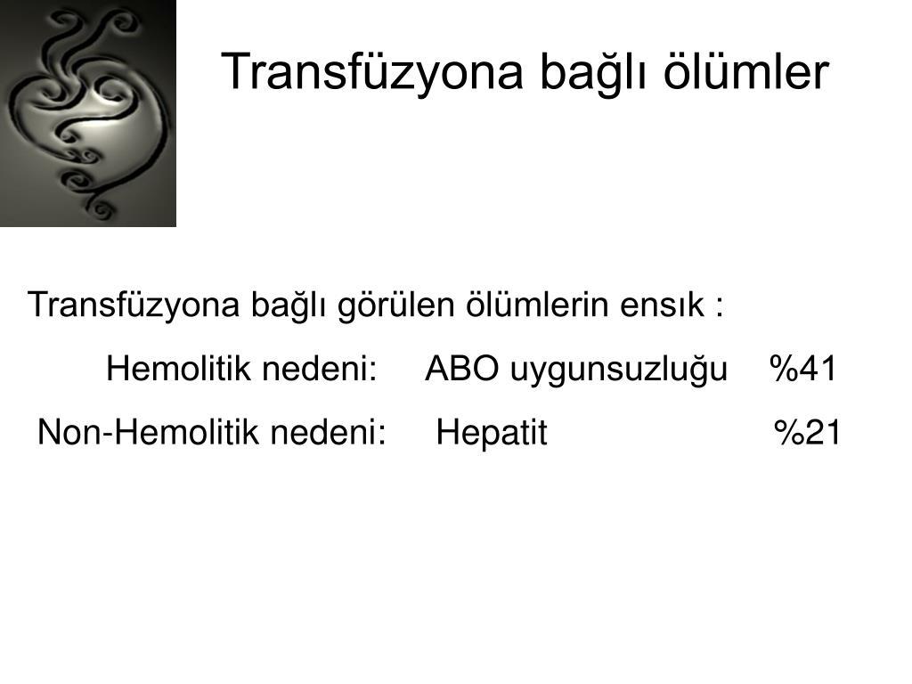 Transfüzyona bağlı ölümler