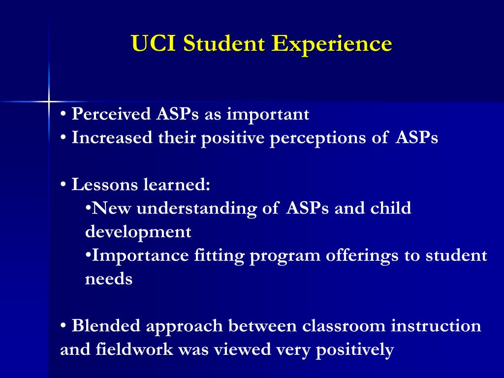 UCI Student Experience