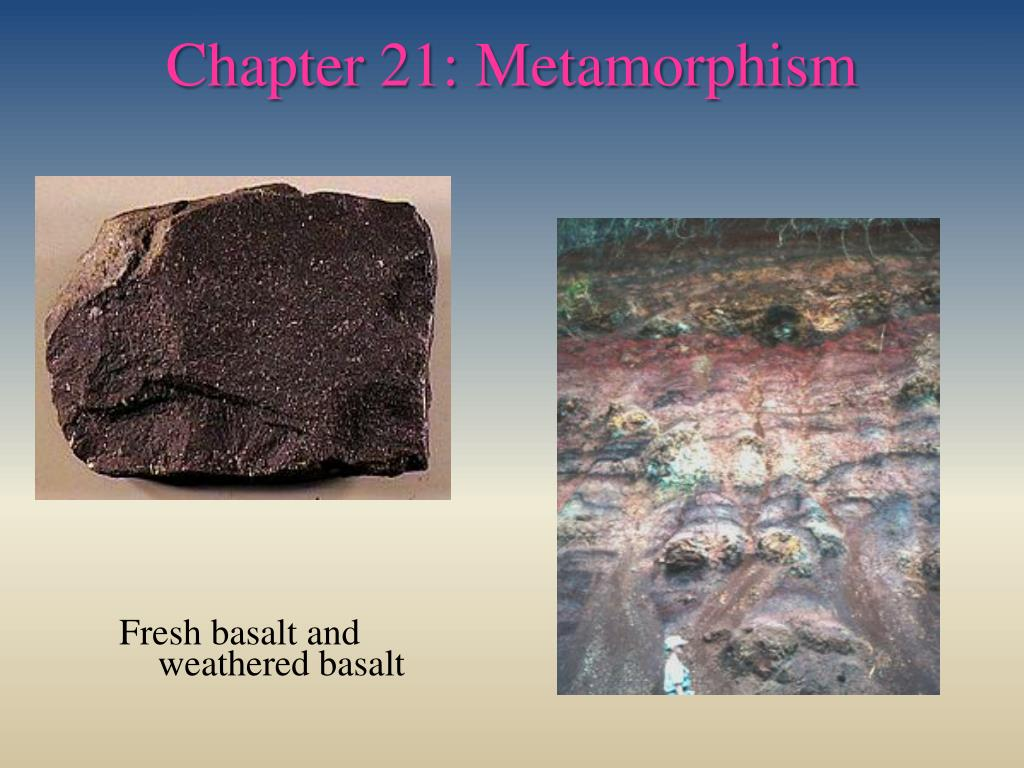 chapter 21 metamorphism l.