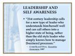leadership and self awareness