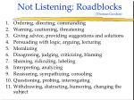 not listening roadblocks thomas gordon