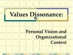 personal vision and organizational context