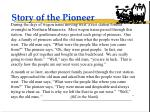 story of the pioneer