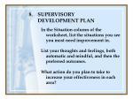 supervisory development plan125