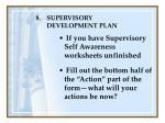 supervisory development plan126