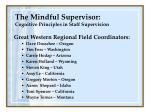 the mindful supervisor cognitive principles in staff supervision2