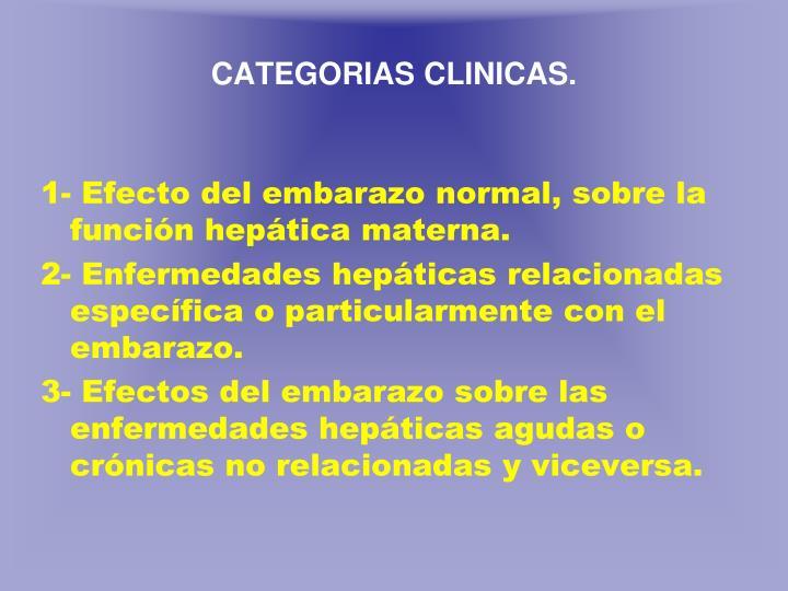 C ategorias clinicas