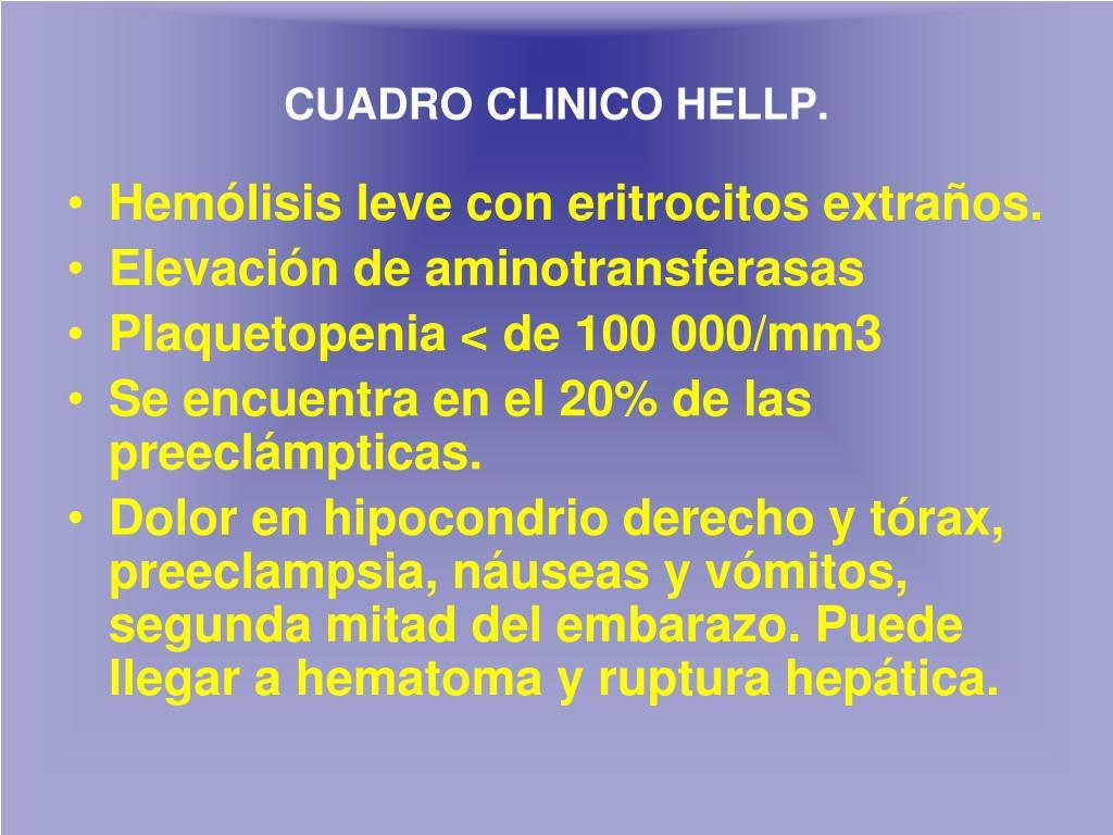 CUADRO CLINICO HELLP
