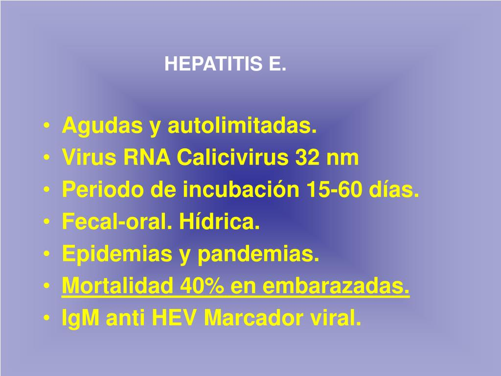 HEPATITIS E.