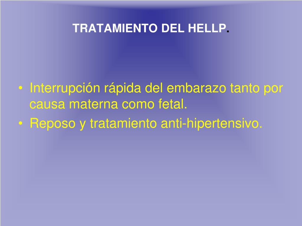 TRATAMIENTO DEL HELLP