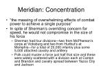 meridian concentration