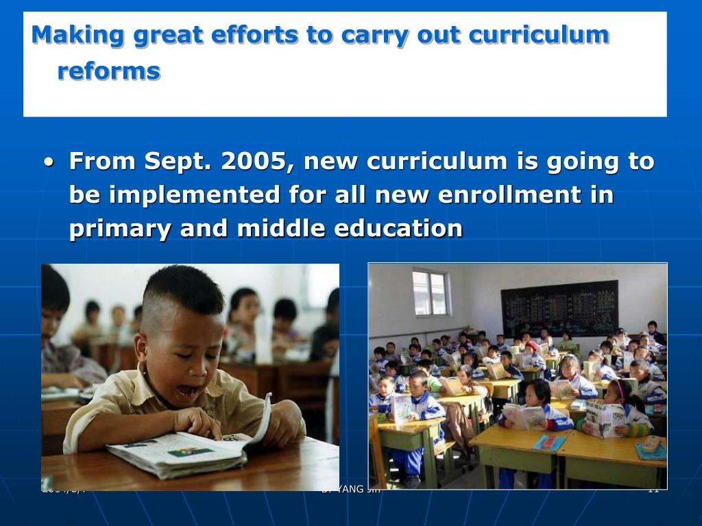 Making great efforts to carry out curriculum reforms