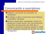 comunicaci n a suscriptores