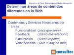 determinar reas de contenidos diferentes en la web