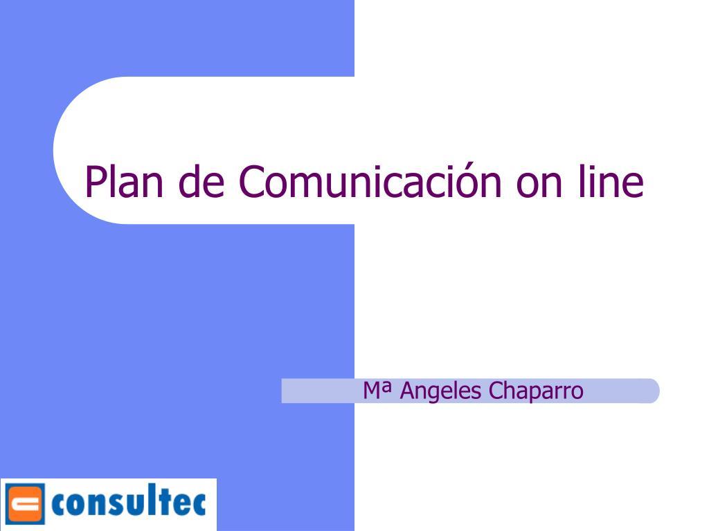 plan de comunicaci n on line l.