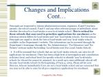 changes and implications cont