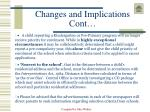 changes and implications cont6