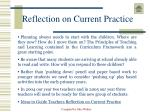 reflection on current practice