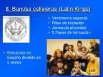 8 bandas callejeras latin kings