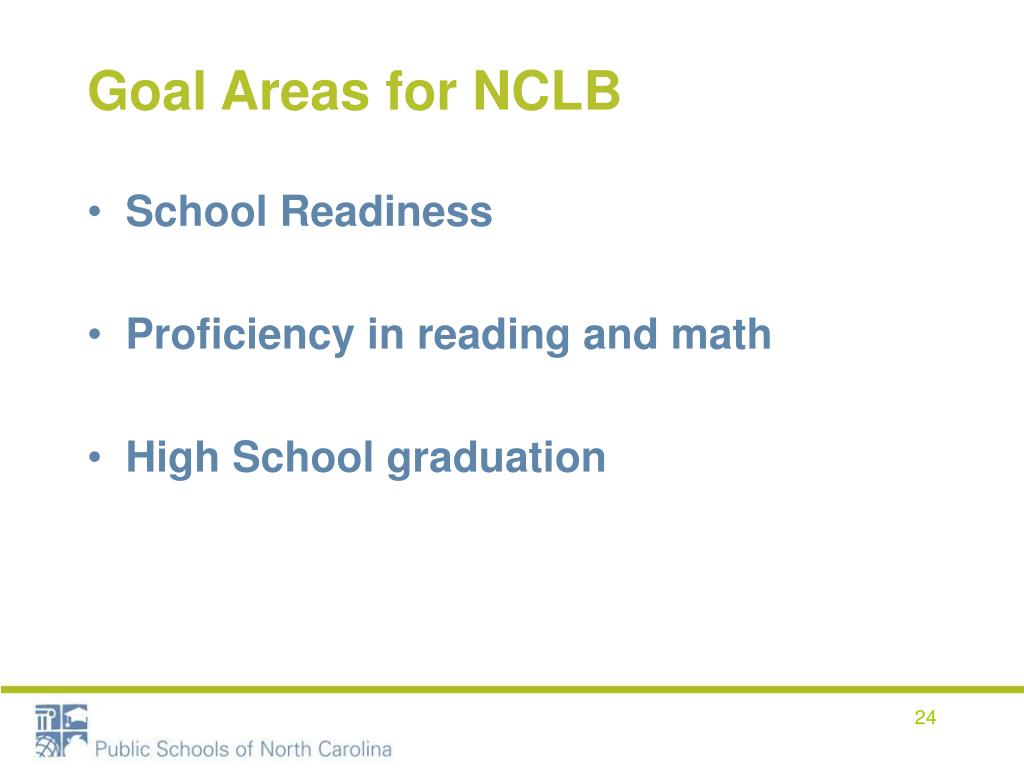 Goal Areas for NCLB