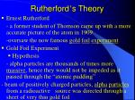rutherford s theory