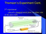 thomson s experiment cont