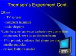 thomson s experiment cont18