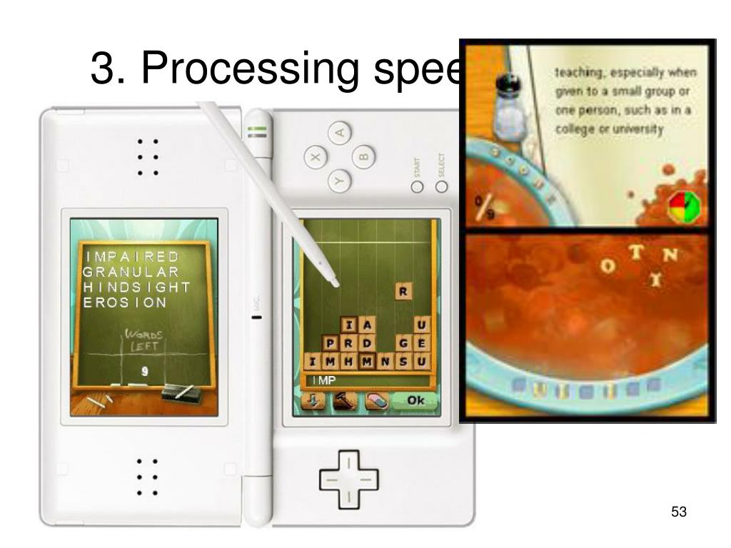 3. Processing speed