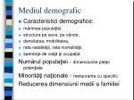 mediul demografic