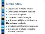 mediul natural