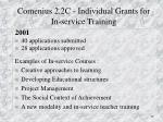 comenius 2 2c individual grants for in service training13
