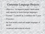 comenius language projects