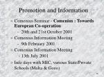 promotion and information